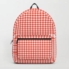 Red Gingham - Vichy Karo groß Farbe Rot-Weiss Backpack