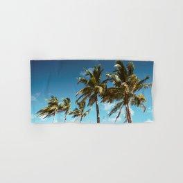 palm tree in miami Hand & Bath Towel
