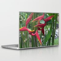 "indonesia Laptop & iPad Skins featuring Flower ""Heliconia"" (Bali, Indonesia) by Christian Haberäcker - acryl abstract"