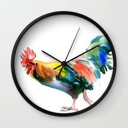 Rooster decor art Wall Clock