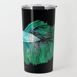 Green Galaxy Betta Fish Travel Mug