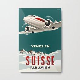 Swiss Air travel poster Metal Print