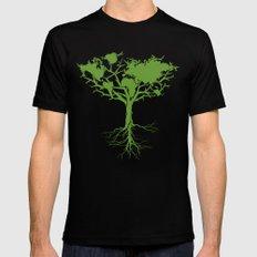 Earth Tree MEDIUM Mens Fitted Tee Black