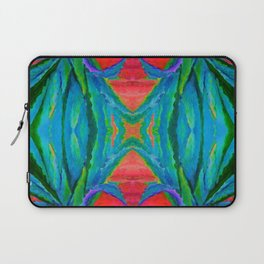 WESTERN MODERN ART OF BLUE AGAVES RED-TEAL Laptop Sleeve