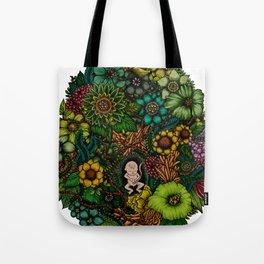 "Floral Uterus ""緑(ROKU)"" Tote Bag"