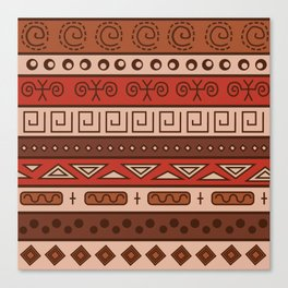 African Tribal Pattern No. 18 Canvas Print