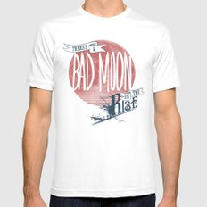 Bad Moon Rising - Supernatural  Mens Fitted Tee White MEDIUM