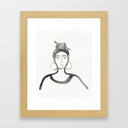 Hair Pin Framed Art Print