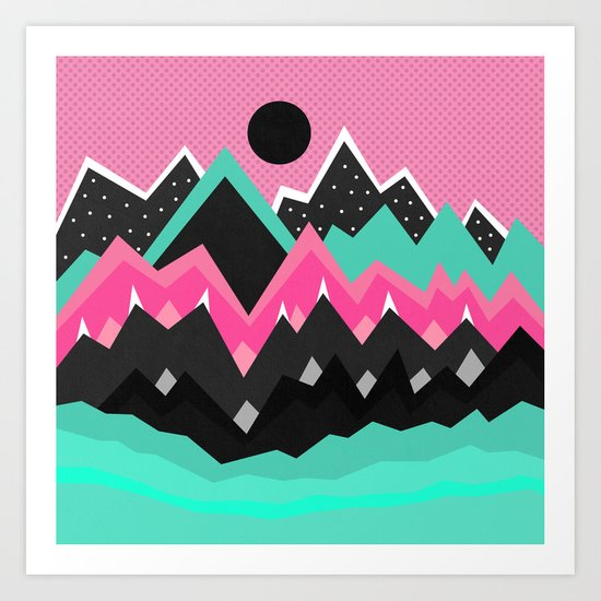 Little land of frosting Art Print