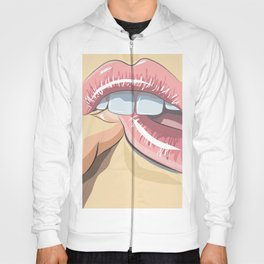 Lips with finger Hoody