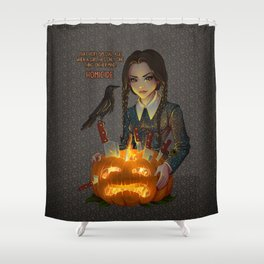 Wednesday Addams - Homicide Shower Curtain