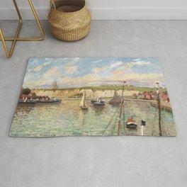 """Camille Pissarro """"L´Avant-port de Dieppe, après-midi, temps lumieneux"""" The Outer Harbour, Dieppe on"""" Rug"""