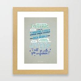 RED VS. BLUE - I SAID REBELLIOUS NOT REVOLUTIONARY Framed Art Print