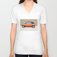 mini V-neck T-shirts featuring Mini Makeover by Bruce Stanfield