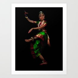 Bharathanatyam Dance -130 Art Print
