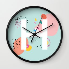 H Monogram Wall Clock