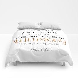 Good Whiskey Quote - Mark Twain Comforters