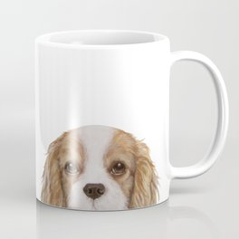 Cavalier King Charles Spaniel Dog illustration original painting print Coffee Mug