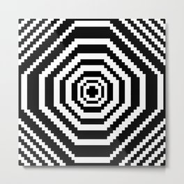 Pixel Manic Confusion. Metal Print