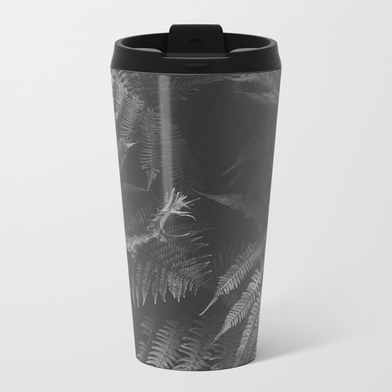 Colorless Fern Metal Travel Mug