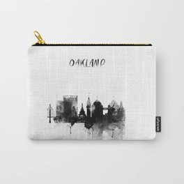 Oakland Black and White Skyline poster Carry-All Pouch