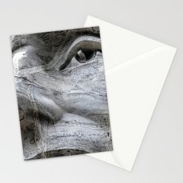 Rushmore Face of Lincoln Stationery Cards