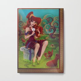 Megara Damsel in Distress Metal Print