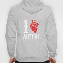 I Love Metal Music Rock And Roll Punk  Hoody