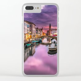 Venice Canal at Sunset Clear iPhone Case