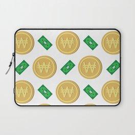 Korean won pattern background Laptop Sleeve
