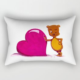 Teddy Valentine #2 Rectangular Pillow