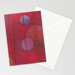 reddish sphere Stationery Cards
