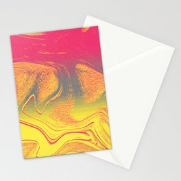 strange wave Stationery Cards