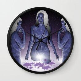 The Creators. (Gods a Girl) Wall Clock