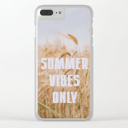 Summer Vibes Only Clear iPhone Case