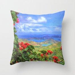 St. John Vista Throw Pillow