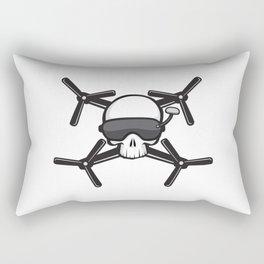 FPV Drone Racing Skull Rectangular Pillow