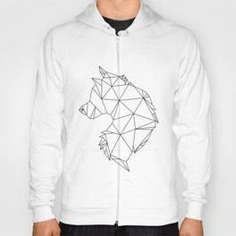 Geometric Wolf (Black on White) Hoody