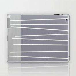 Mid century modern textured gray stripes Laptop & iPad Skin
