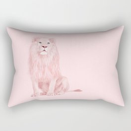 PINK LION Rectangular Pillow