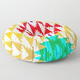050 - traditional pattern interpretation with golden foil Floor Pillow