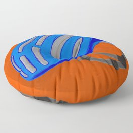 The blue bike helmet Floor Pillow