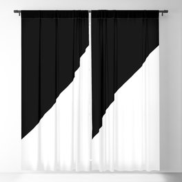 Black/White Blackout Curtain