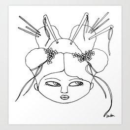 Japanese girl Art Print