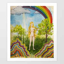 The Temptation of Eve Art Print
