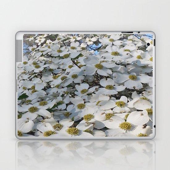Blanket of Dogwood blooms Laptop & iPad Skin