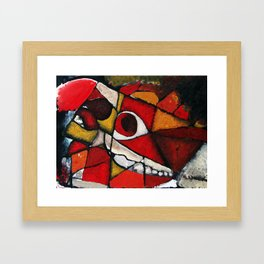 Horse Skull Abstract Framed Art Print