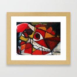 Horse Skull Abstract Framed Art Print