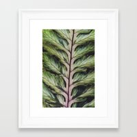 fern Framed Art Prints featuring fern by Bonnie Jakobsen-Martin