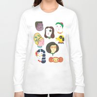 talking heads Long Sleeve T-shirts featuring Heads by Ana Albero